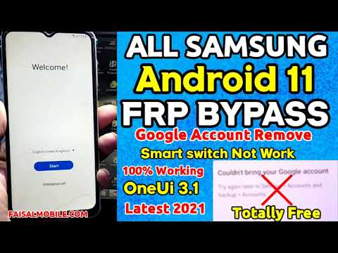 All Samsung FRP Bypass 2021 Android 11 (Bypass Google Account) Smart Switch Not Working 100% Done