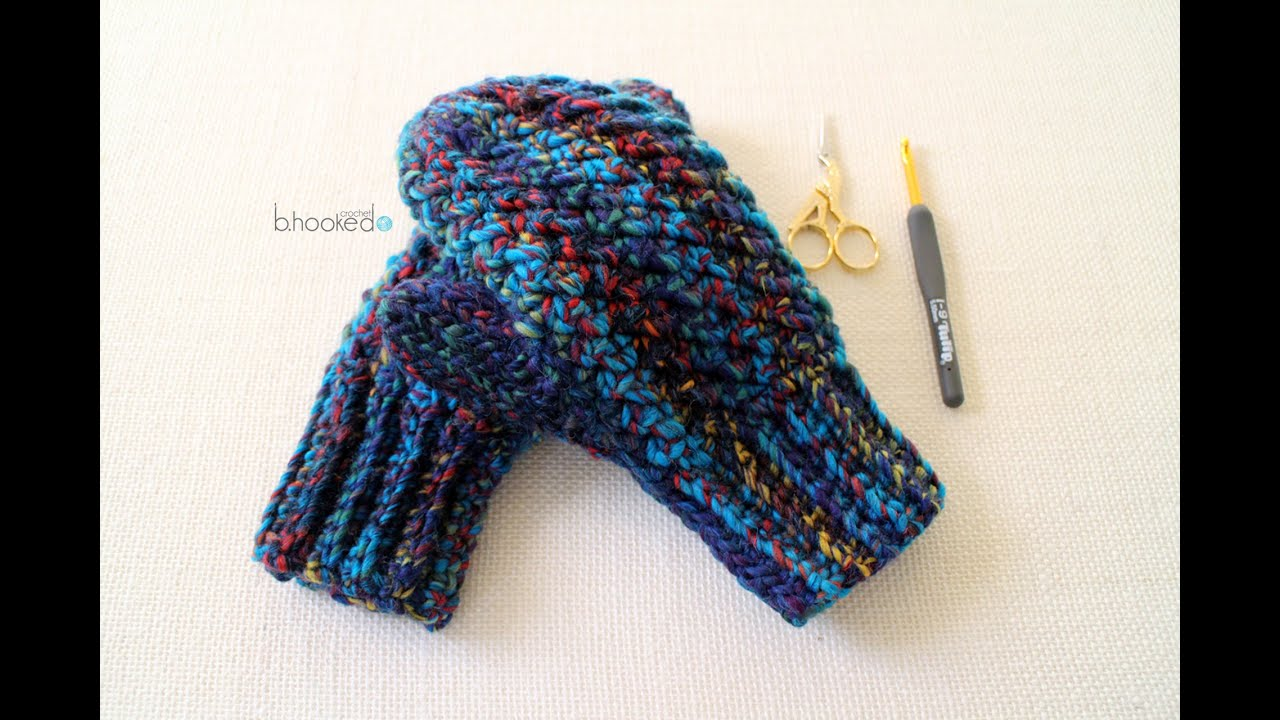 How To Crochet Mittens Left Hand Youtube