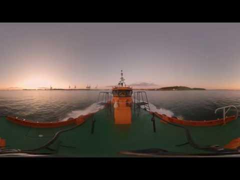 Sjöfartsverket i 360 grader - följ med på lotsning