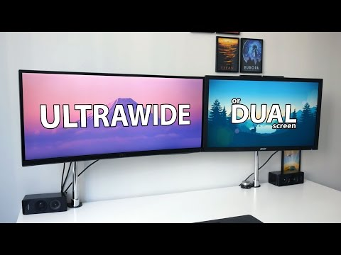 Ultrawide vs Dual Screen - what is the best setup for productivity?