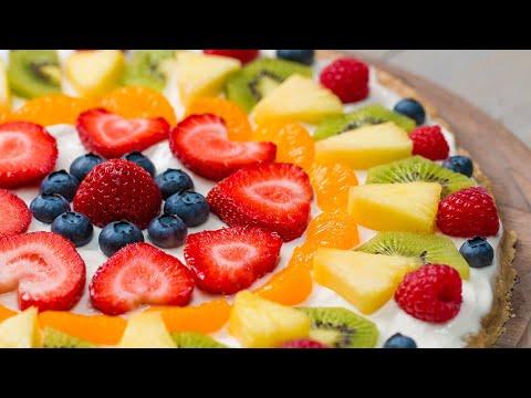 Healthier Cookie Fruit Pizza