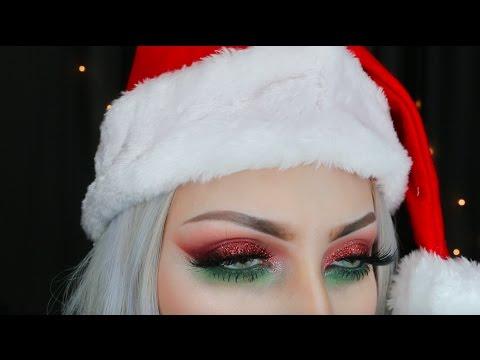Glittery Christmas Makeup Tutorial || Evangeline DeMuro