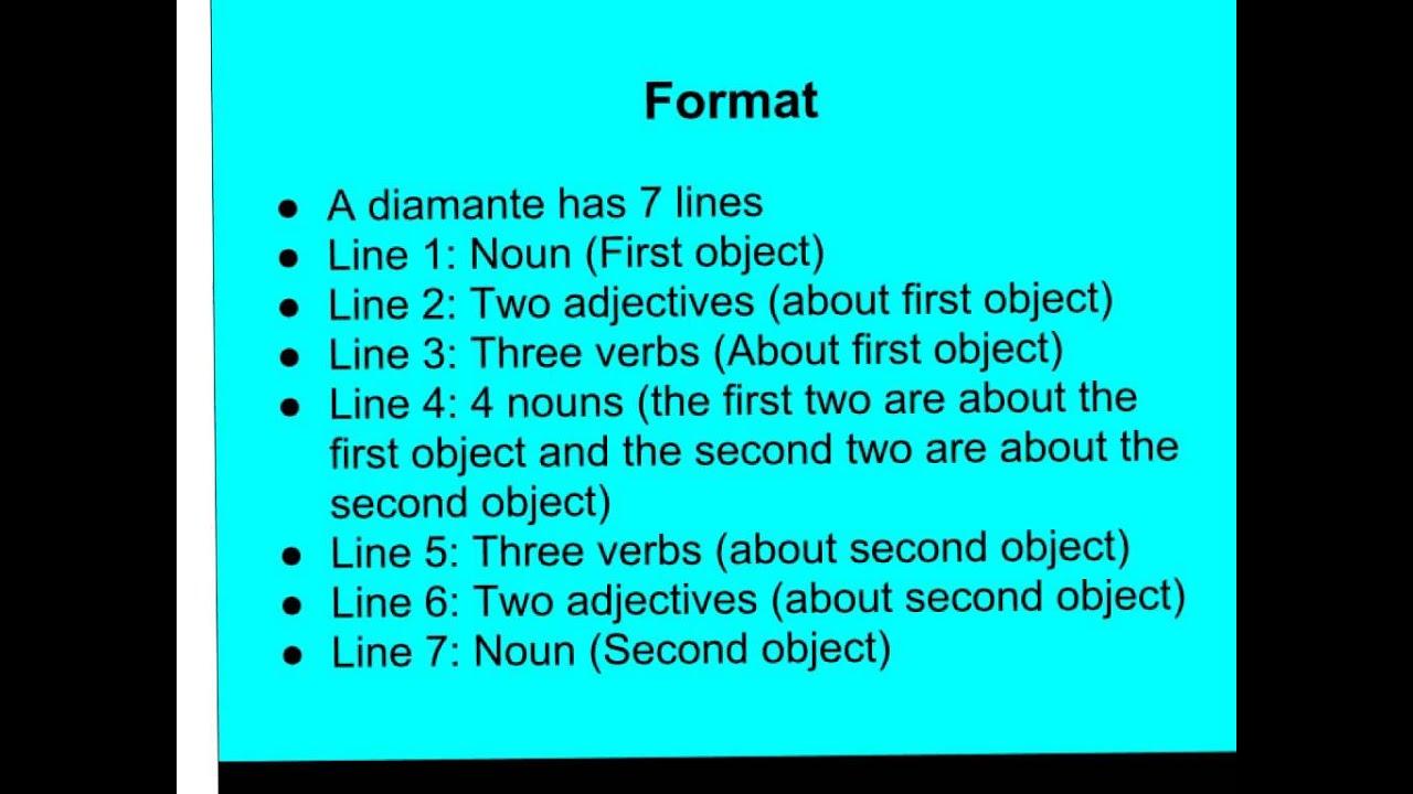 Examples Of Diamante Poems 2