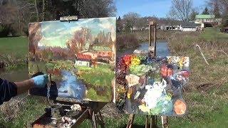 Kyle Buckland Plein Air Oil Painting Demonstration demo Beginner Art Lesson #3