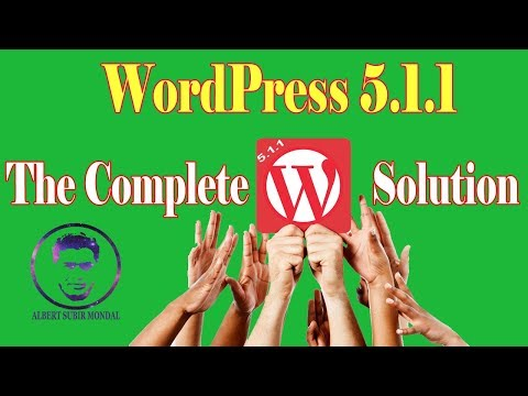 WordPress 5.1.1 A-Z | WordPress 5.1.1 Bangla Tutorial Full | Design your site using WordPress 5.1.1 thumbnail