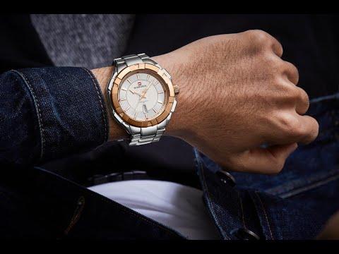 NAVIFORCE  NF9176  Sports Watch Men's Watch Fashion Stainless Steel Watch   3atm Waterproof Watch