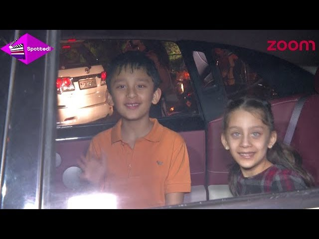 Sanjay Dutts Kids Iqra & Shahraan Spotted In The City Over The Weekend