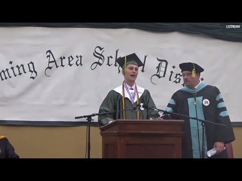 Valedictorian's graduation speech cut off after he criticizes school's administration