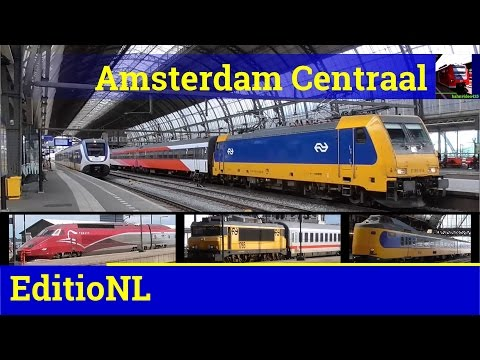 [HD] Various trains at Amsterdam Centraal - EditioNL episode 1