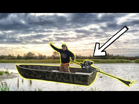 Duck Hunting Boat SET-UP And CAMO | Best Mud Motor Ever!