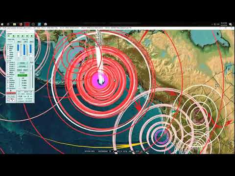 1/25/2018 -- VOLCANIC PLUMES in California + Arizona -- M5.8 (M6.0) Earthquake in CA - 동영상