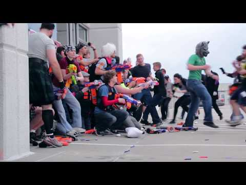 An Incredible Nerf Proposal at a Humans Vs. Zombies Game