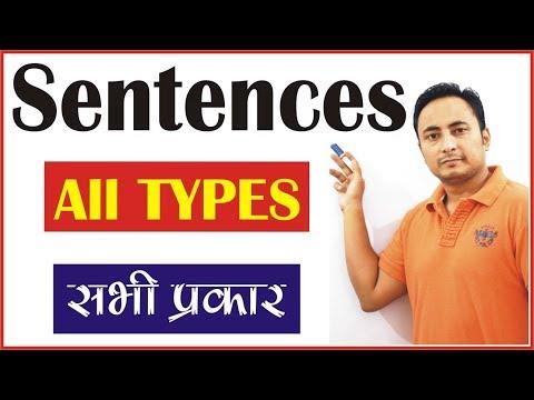 SENTENCES & ITS TYPES {वाक्य व उनके प्रकार}: Declarative, Imperative, Interrogative, Exclamatory,
