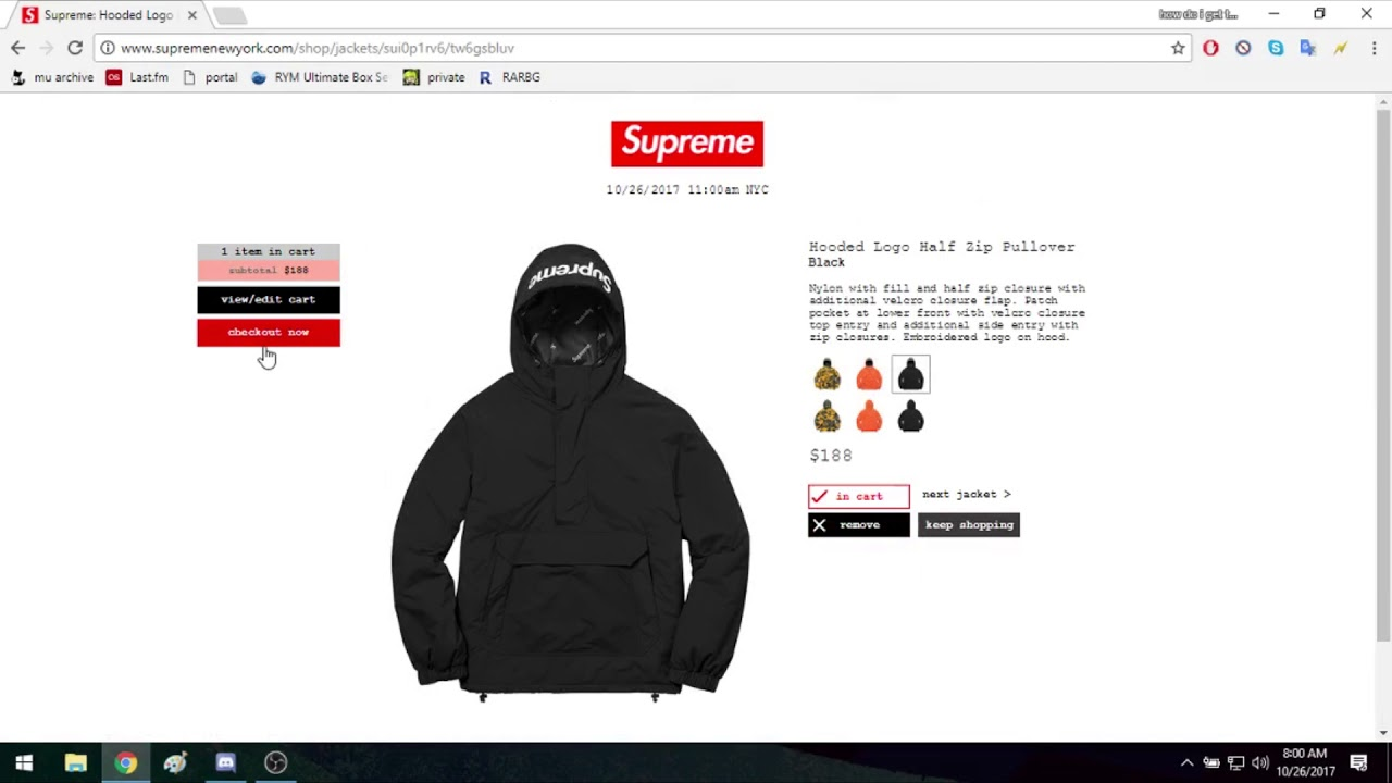 Supreme FW17 Week 10 Half Zip Pullover - YouTube f871581a3