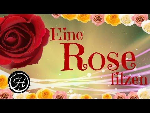 DIY Wunderschöne Rose filzen