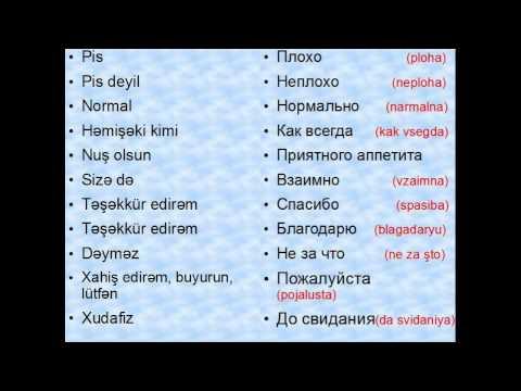 Rus Dili Ders 1 Youtube