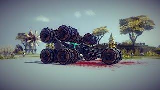 Besiege - All Terrain Vehicle and Sheep Massacre