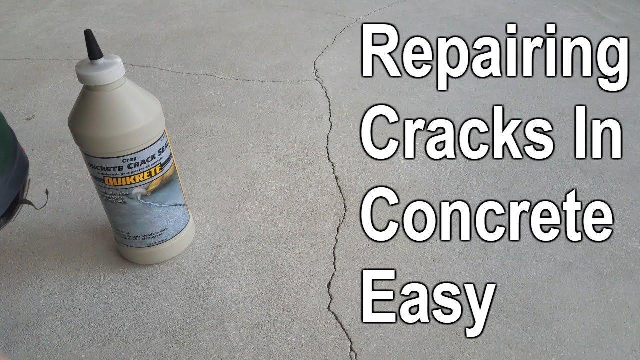 Bon How To Repair Cracked Concrete Patio Slab