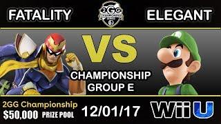 2GGC - YP   Fatality (Captain Falcon) Vs. BSD   Elegant (Luigi) Group E - Championship