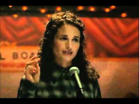 Andie MacDowell-Sittin on the side of the road