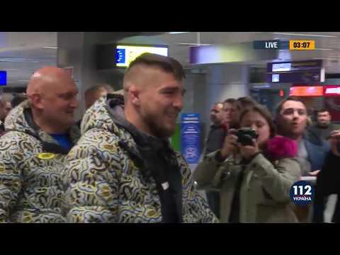 Ярослав Амосов в Киеве, после победного боя на Bellator 216