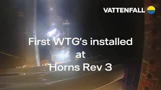 Første vindmøller til Horns Rev 3 – Vattenfall