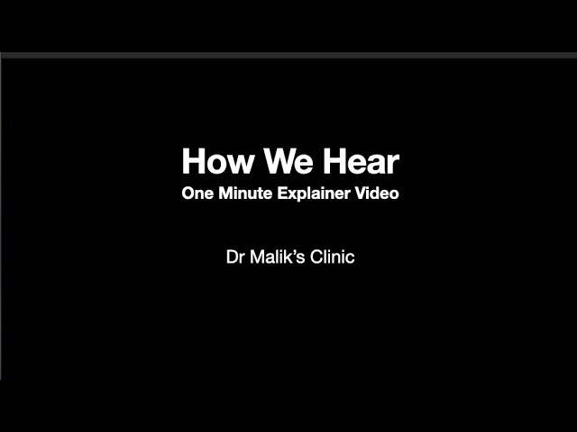 How we hear : 1 Minute Explainer Video