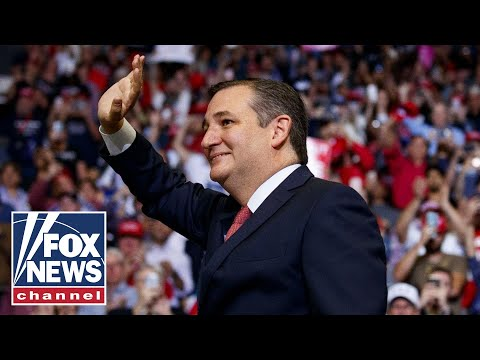 Senator Ted Cruz gives victory speech in Texas