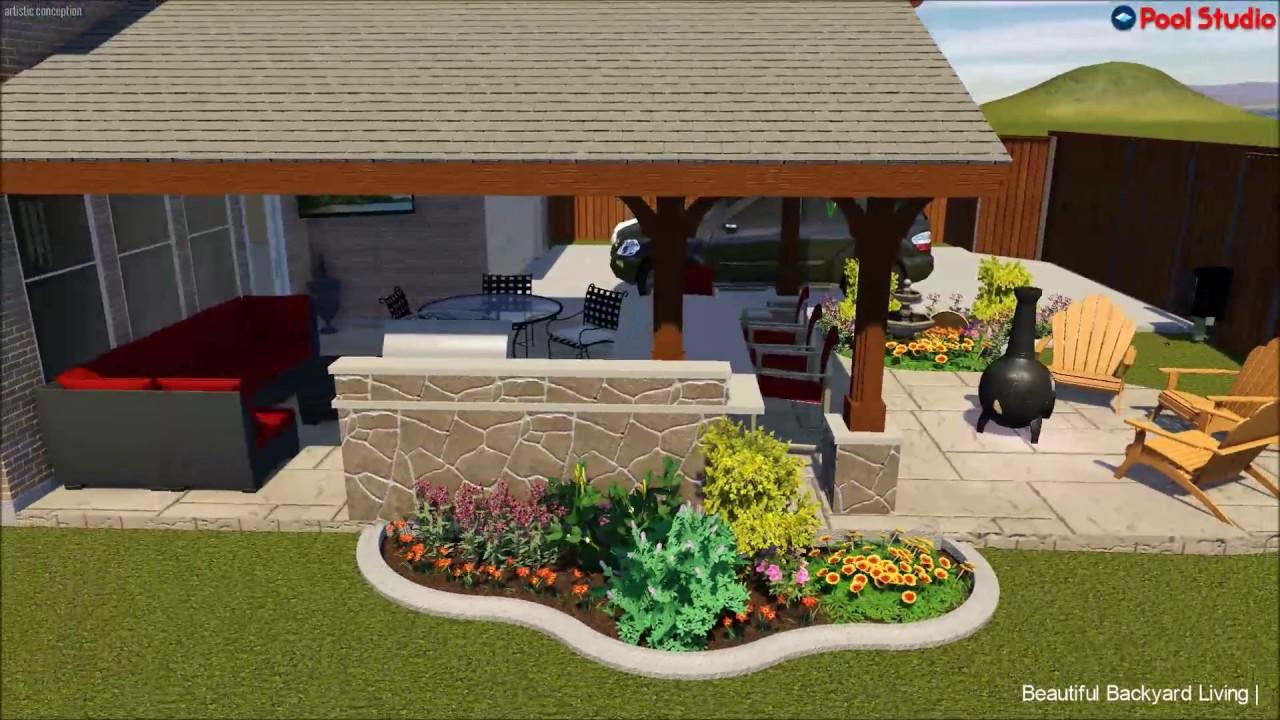Gabled Patio Cover   Frisco, TX. Beautiful Backyard Living