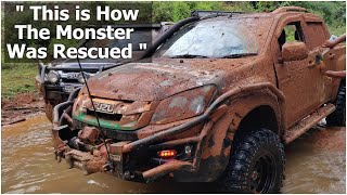MONSTER RESCUE MISSION | OFF-ROAD TERRAIN  | ISUZU DMAX VCROSS 4x4 | WINCH ROPE MACHINE | WINCHING