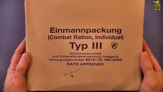 MRE Review - German Army Combat Ration - EPA Type III