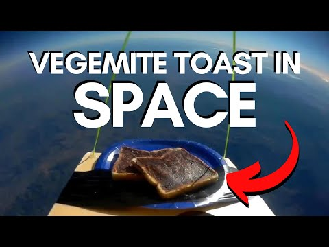 Team Of Legends Launch A Plate Of Vegemite Toast To 'The Edge Of Space'