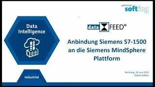 Anbindung Siemens S7 1500 an die Siemens MindSphere Plattform