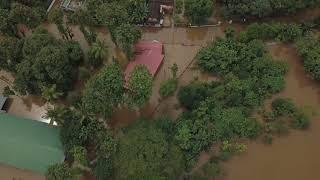 Aluva flood aerial view