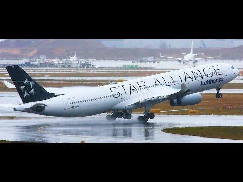 Emergency Landing! Lufthansa Airbus A340-300 no flaps/high speed landing at Frankfurt Airport