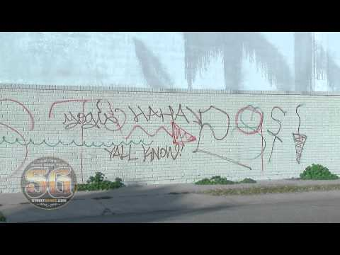 East Side 29th Street gang graffiti in South Los Angeles