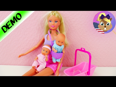 Steffi Love | BABYSITTER Doll with TWINS | Barbie Doll Demo | Barbie with Babies