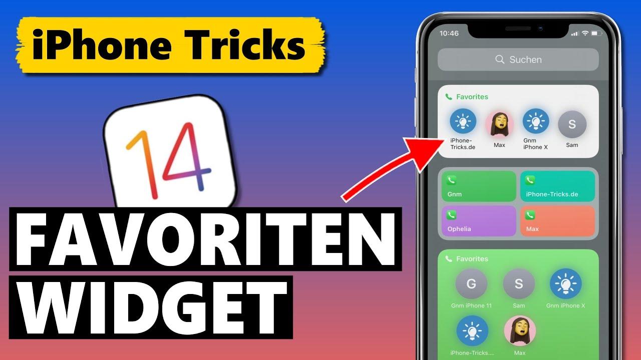 iOS 14 Favoriten Widget für Kontakte wieder hinzufügen 📇👪📞