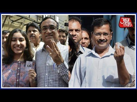 MCD Election 2017 Live: Kejriwal, Ajay Maken Cast Their Votes