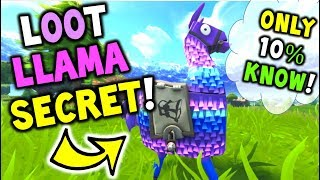 Loot Llama *SECRET* That Only 10% OF Player Know! - Fortnite Battle Royale Loot Llama SECRET TIP!