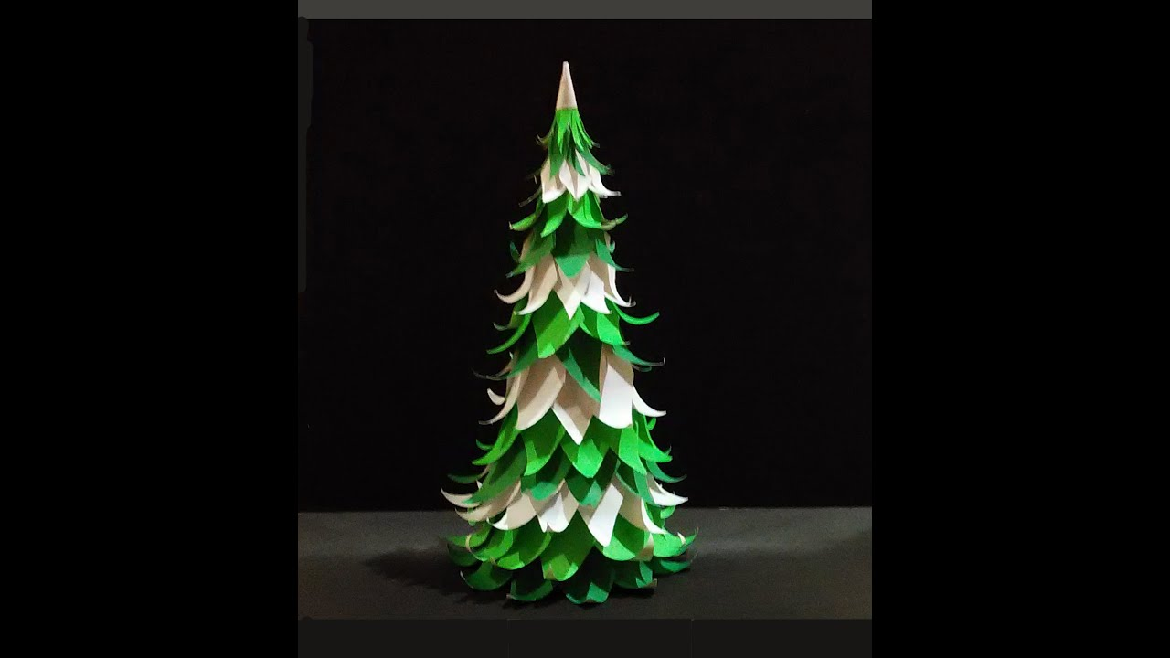 paper christmas tree easy to do youtube - How To Make A Paper Christmas Tree