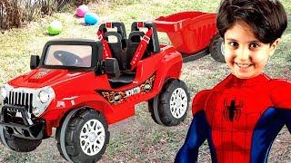 SADO'NUN YENİ AKÜLÜ ARABASI YOLDA KALDI! Kid Ride on Power Wheels Toy Car Stay On the Road