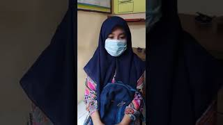 Sdri NUR HASANAH selaku Warga  Desa Sukamarg Kec. Sajira  Kab. Lebak, patuhi  protokol kesehatan