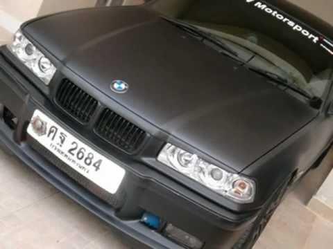 Bmw E36 Quot Matte Black Quot Car Wrap Wmv Youtube