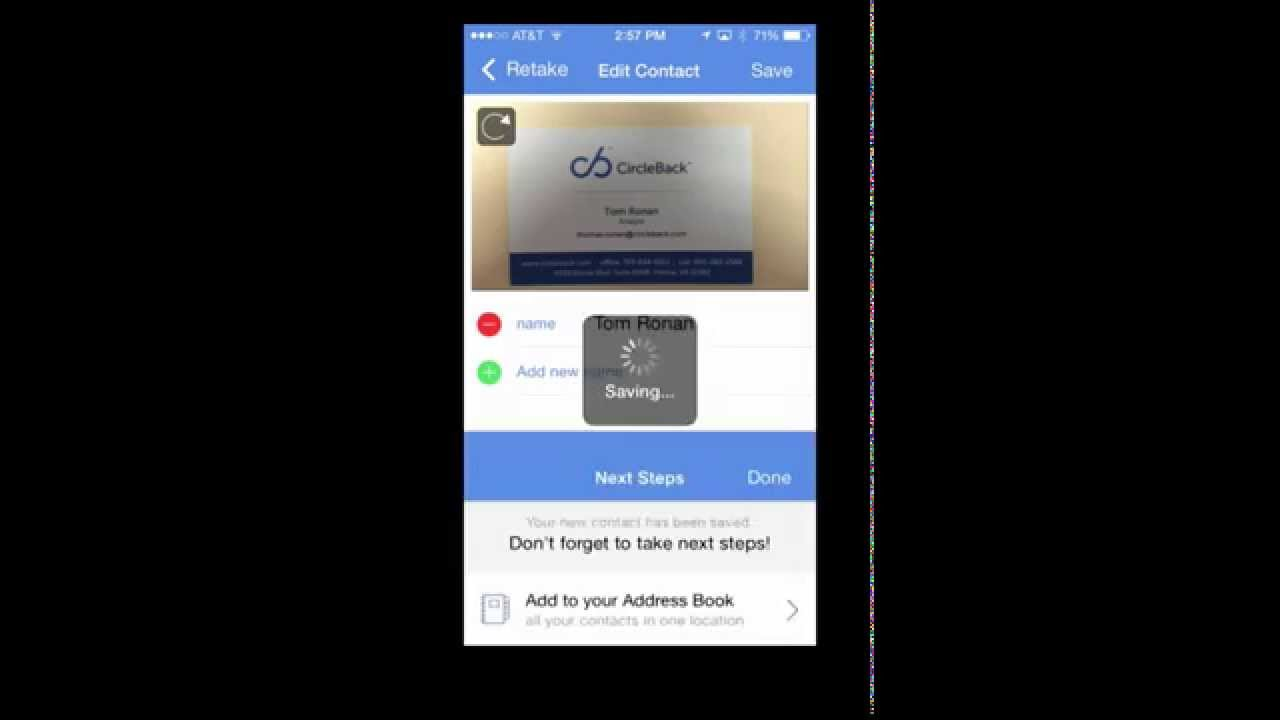 Iphone Business Scan Card App How To Scan A Business Card Youtube