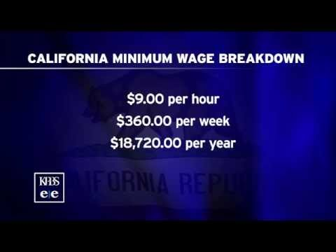 California Minimum Wage Increases To $9 Per Hour On July 1