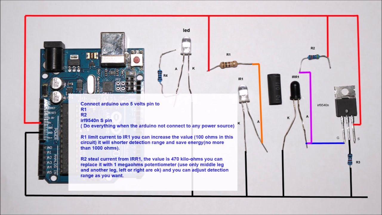 infrared toggle switch circuit diagram youtube rh youtube com Toggle Switch Wiring Diagram Rocker Switch Schematic
