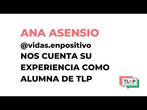 Habla en público y traspasa la pantalla. Programa online. Testimonio de Ana Asensio, alumna de TLP.