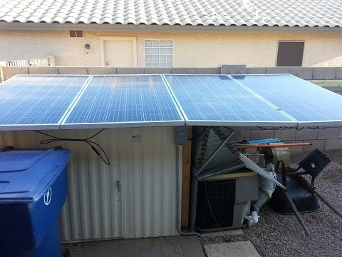 1.2kw Solar Panels Off Grid w/ 24v battery bank running wind