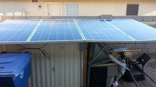 1.2kw Solar Panels Off Grid w/ 24v battery bank running window air conditioner and more.